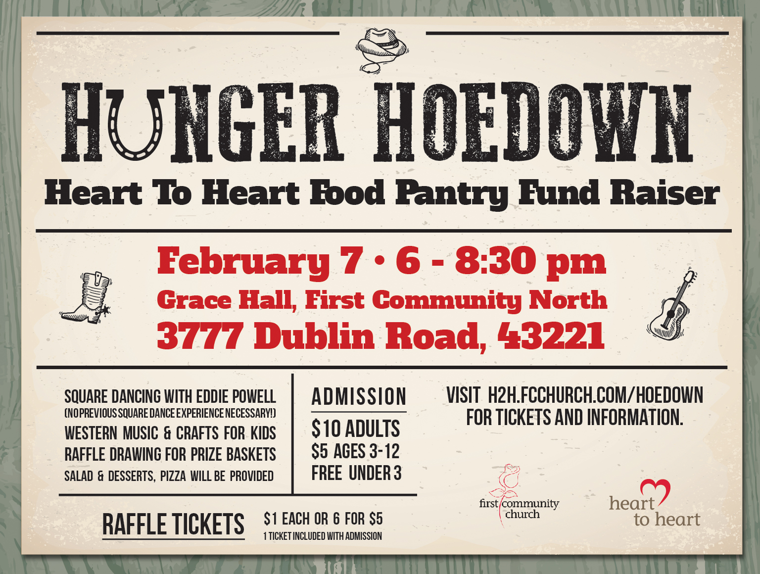 Hunger Hoedown 2020 screen graphic